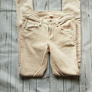 Rag / Bone light pink skinny jeans - size 26